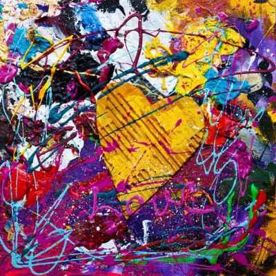 Αφηρημένη ζωγραφική με μία καρδιά
