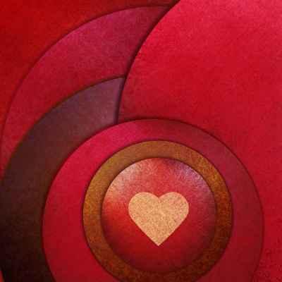 Καρδιά με κόκκινους κύκλους