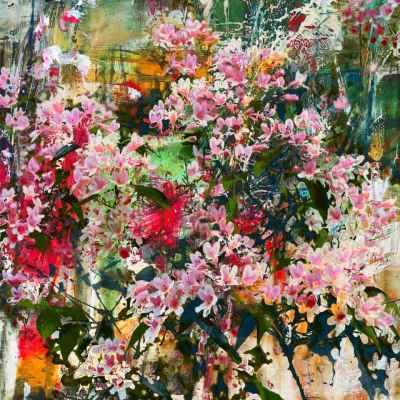 Θέμα με ροζ λουλούδια