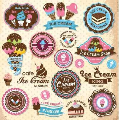 Συλλογή από παλιές εικόνες παγωτά