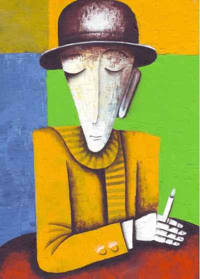 Άντρας κρατάει στα χέρια του ένα τσιγάρο