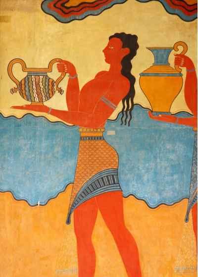 Τοιχογραφία στο παλάτι της Κνωσού